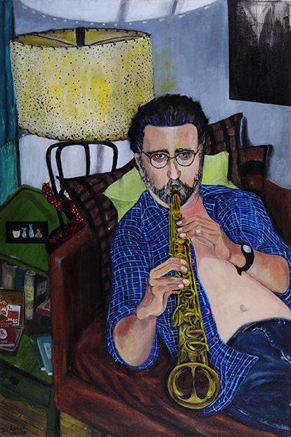 Portrait of LW with Soprano Sax