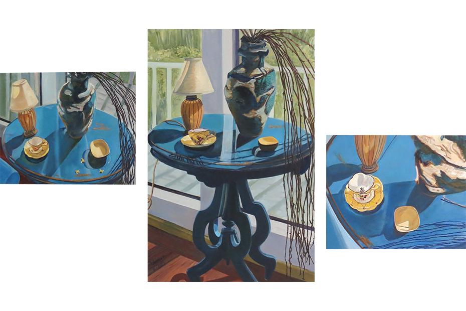 Blue Table Triptych