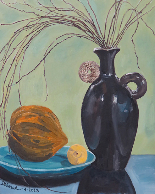 Still Life with Squash and Vase