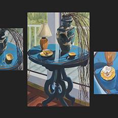 Sur la Table Matisse Bleu (Triptych)