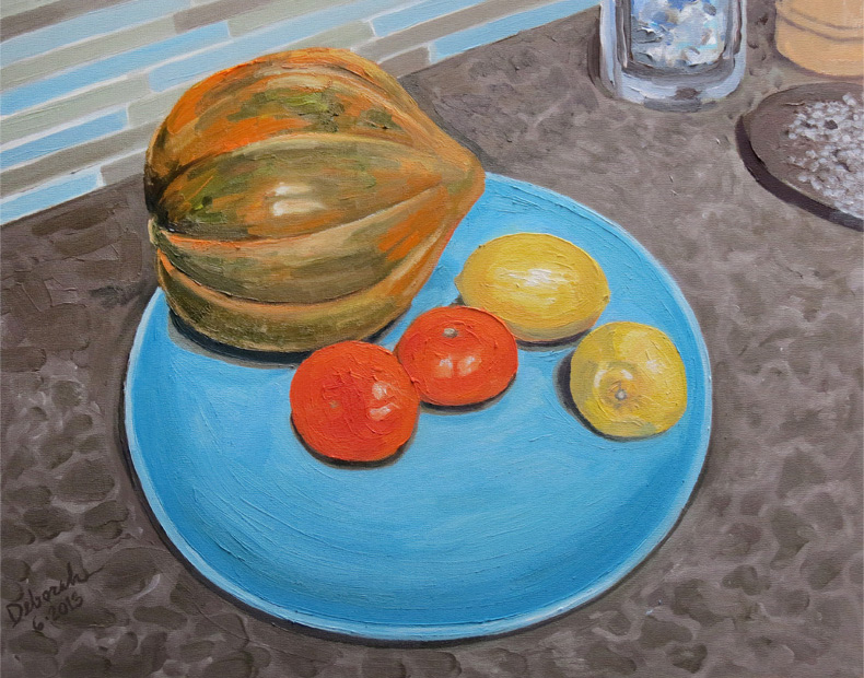 Still Life with Squash and Citrus