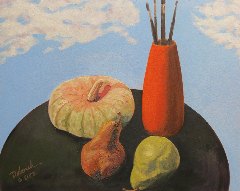 Still Life with Squash and Pears