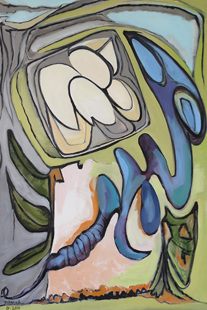 Biotic Metamorphosis I, 2014: 36'' x 24'', oil on canvas