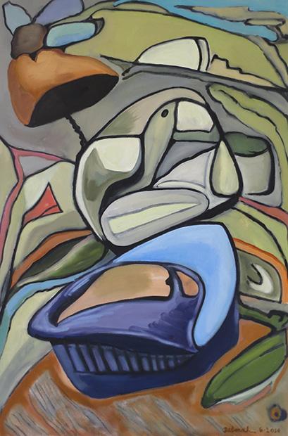 Biotic Metamorphosis II, 2014: 36'' x 24'', oil on canvas